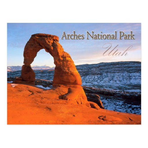 Delicate Arch, Arches National Park, Utah Post Cards