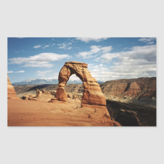 Delicate Arch, Arches National Park, Utah Rectangular Sticker