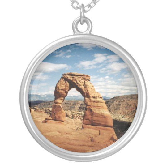 Delicate Arch, Arches National Park, Utah Silver Plated Necklace