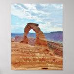 Delicate Arch, Arches Nat'l Park, Psalm 25 Poster