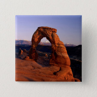 Delicate Arch at Sunset with snow covered La Button