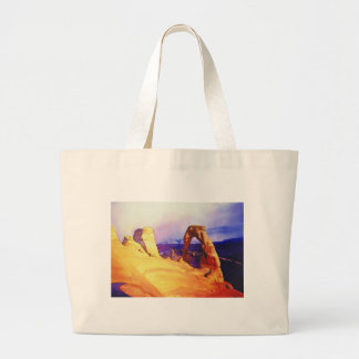 """Delicate Arch"" Desert Scene Watercolor Large Tote Bag"