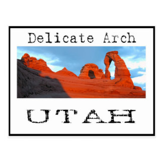 delicate arch post card