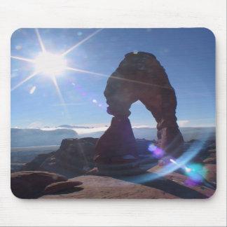 Delicate Arch sunburst mousepad