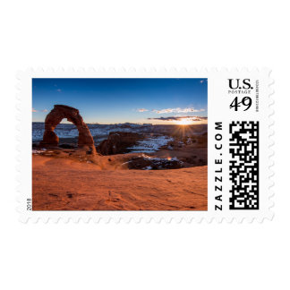 Delicate Arch Sunset Postage