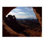 Delicate Arch through Rock Window at Arches Postcard