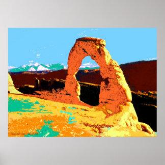 Delicate Arch Utah - Pop Art Print
