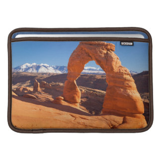 Delicate Arch With The Lasalle Mountains Beyond MacBook Air Sleeve