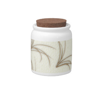 Delicate autumn grasses candy jar