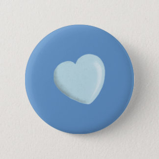 DELICATE BABY BLUE ROUNDED HEART BOY SWEET LOVE BUTTON