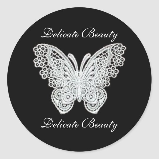 Delicate Beauty Lace Butterfly Stickers