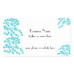 Delicate Blossoms (Aqua) Double-Sided Standard Business Cards (Pack Of 100)