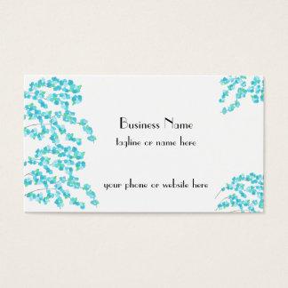 Delicate Blossoms (Aqua) Business Card