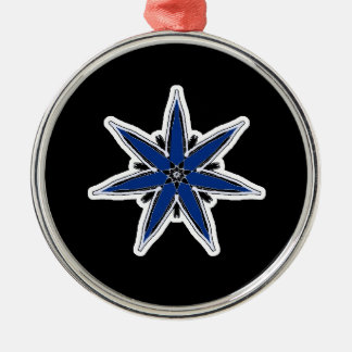 Delicate blue faerie star christmas tree ornament