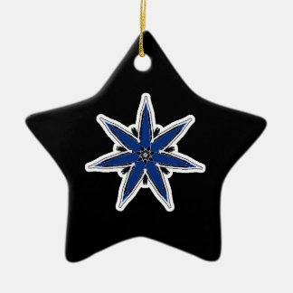 Delicate blue faerie star christmas ornament