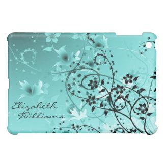 Delicate Blue Floral  iPad Mini Cover