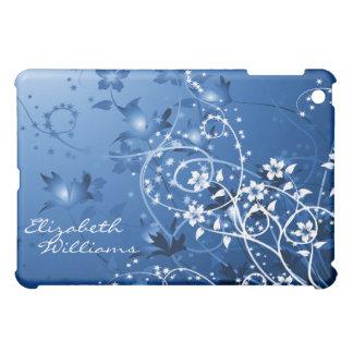 Delicate Blue Floral  iPad Mini Covers