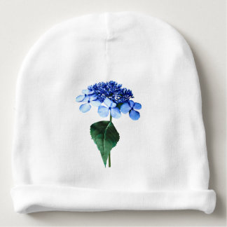 Delicate Blue Lacecap Hydrangea Baby Beanie