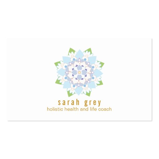 Delicate Blue Lotus Flower  Business Card