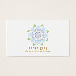 Blue lotus flower floral watercolor business card zazzle lotus flower business cards amp templates zazzle mightylinksfo
