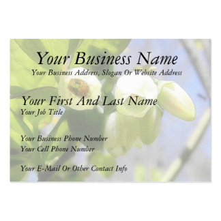 Delicate Blueberry Blossoms Large Business Card