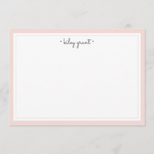 delicate blush personalized stationery flat note card - Personalized Flat Note Cards