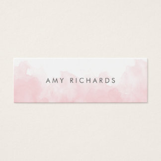 Delicate Blush Pink Watercolor Elegant Pastel Mini Business Card