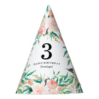 Delicate Bouquet Birthday Party Hat
