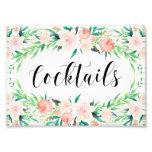 Delicate Bouquet Cocktails Print