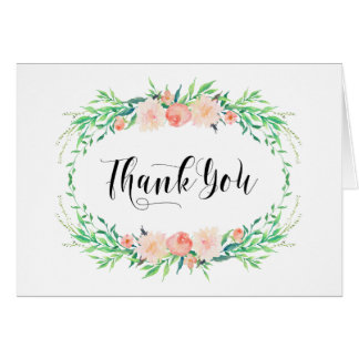 Delicate Bouquet Thank You Note Card