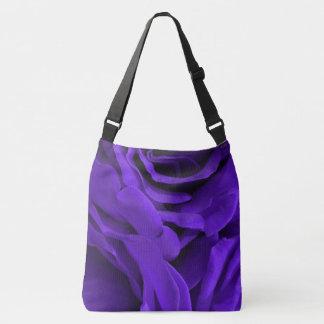Delicate bright purple roses flower photo crossbody bag