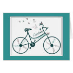 Delicate Butterflies Flowers and Freedom Bike fans Card