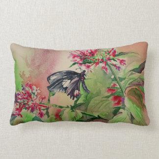 Delicate Butterfly Watercolor Fine Art Pillow