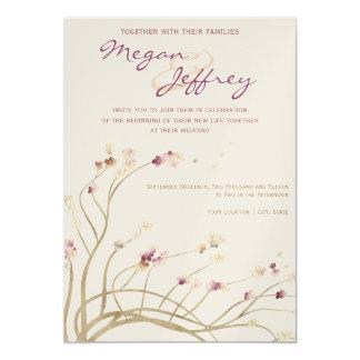 Delicate Cherry Blossom Wedding Invitation