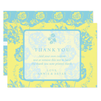 Delicate Country Floral Thank You Cards