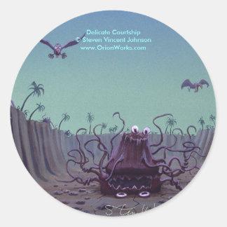 Delicate Courtship, Delicate Courtship Steven ... Classic Round Sticker