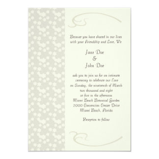 Delicate Cream Floral Wedding Invitations Custom