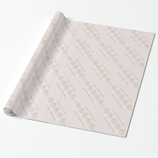 Delicate Creamy Lace Wedding Bridal Shower Romance Wrapping Paper