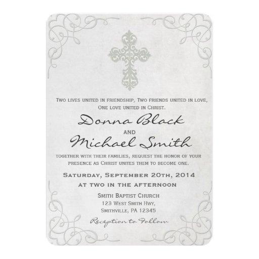 Religious Wedding Invitation is amazing invitations layout