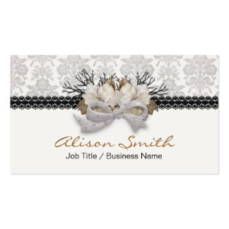 Delicate crystals bow with black lassos business card