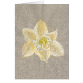 Delicate Daffodil Watercolor Stationery Note Card