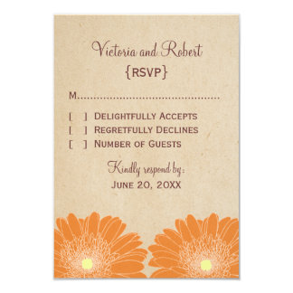 Delicate Daisies Response Card, Orange Card
