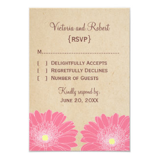Delicate Daisies Response Card, Pink Card