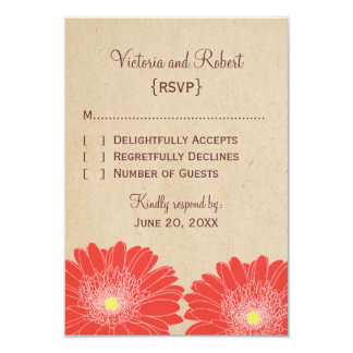 Delicate Daisies Response Card, Red Card