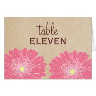 Delicate Daisies Wedding Table Card card