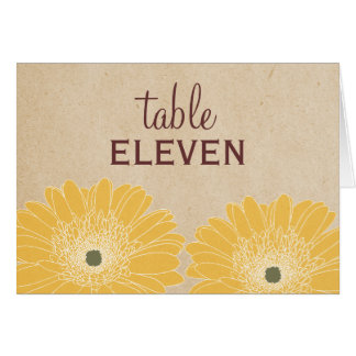 Delicate Daisies Wedding Table Card, Yellow Stationery Note Card
