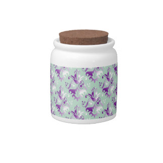 Delicate Damask Pattern Candy Jars