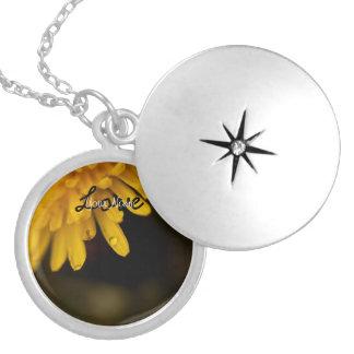 Delicate Dandelion; Customizable Round Locket Necklace