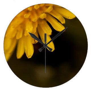 Delicate Dandelion Large Clock