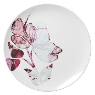 Delicate Designer Floral Vintage Print on Plates